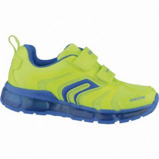 Geox sportliche Jungen Synthetik Sneakers fluo yellow, Geox Leder Fußbett, 3338147