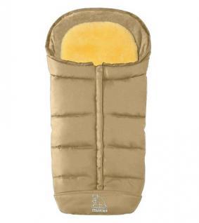 warmer Baby Lammfell Winter Fußsack beige waschbar, herausnehmbare Lammfell Einlage für Kinderwagen, Buggy, ca. 105x47 cm