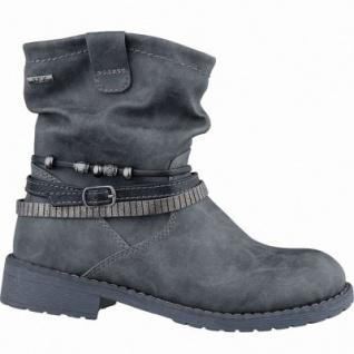 Indigo sportliche Mädchen Synthetik Tex Stiefel graphit, leichtes Warmfutter, warmes Fußbett, 3737171/35