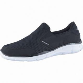 Skechers Equalizer Persistent coole Herren Mesh Sneakers black, Memory-Foam-Fußbett, 4238174/42