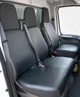 Passform Transporter Sitzbezüge Peugeot Boxer, passgenauer Sitzbezug Einzelsitz+Doppelbank, Kunstleder