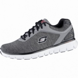 Skechers Synergy instand reaction coole Herren Jersey Sneakers charcoal, Memory-Foam-Fußbett, 4239142/40
