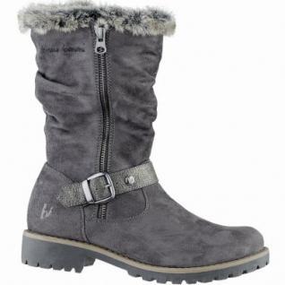 bruno banani sportliche Damen Synthetik Winter Stiefel graphite, molliges Warmfutter, warme Decksohle, 1639203