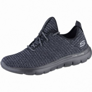 Skechers Flex Appeal 2.0 Bold Move coole Damen Textil Sneakers black, Air-Cooled-Memory-Foam-Fußbett, 4239163/36