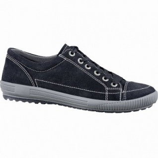 Legero softe Damen Leder Sneakers schwarz, Meshfutter, Legero Leder Fußbett, Comfort Weite G, 1341106/4.0