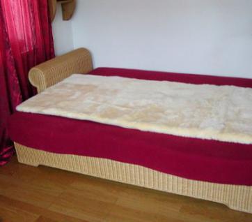 superweiche Lammfell Betteinlagen mit Schutzstoff gepolstert, medizinisch gegerbt, 190x90 cm, 30 mm geschoren, waschbar