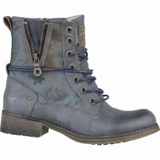 Mustang coole Mädchen Synthetik Winter Boots blaugrau, molliges Warmfutter, warme Decksohle, 3737121/34