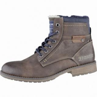 TOM TAILOR sportliche Herren Leder Imitat Winter Boots rust, Warmfutter, 2539173/42