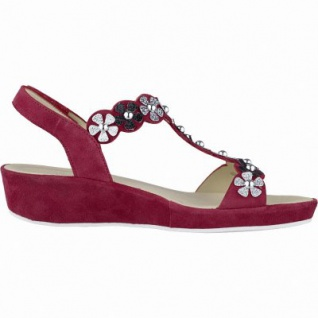 Ara Capri-Highsoft modische Damen Leder Sandalen rot, weiches Fußbett, Comfort Weite G, 1542110/37 - Vorschau 2