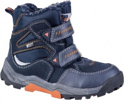 LURCHI Timo Jungen Winter Leder Boots blue, mittlere Weite, Tex Ausstattung