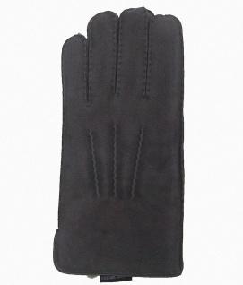 warme Damen, Herren Lammfell Fingerhandschuhe grau, Fellhandschuhe, auch zum ...