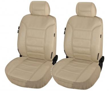 ZIPP IT 2 Stück Universal Echt Leder Auto Sitzbezüge beige, RV System, Leder ...