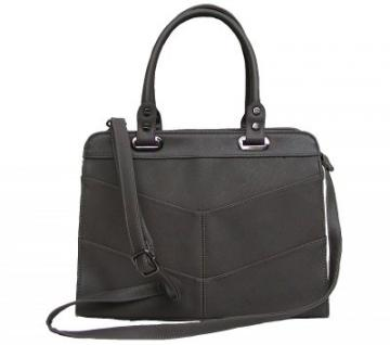 Angel kiss AK5990 grey modische Tasche Kelly Bag Style, Shopper, 3 Hauptfächer, langer Trageriemen, 34x27x13 cm
