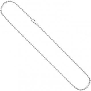 Kugelkette 925 Silber 2, 5 mm 50 cm Halskette Kette Silberkette Karabiner