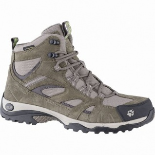 Jack Wolfskin Vojo Hike Mid Texapore Women Leder Outdoor Schuhe green, herausnehmbare Einlegesohle, 4441171/4.5