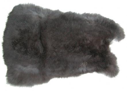 Kaninchenfelle grau naturfarben, ca. 28x30 cm, Felle vom Kaninchen mit seidig...