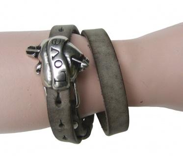 Boom Belts Wechselschließe Love silber für Damen, Herren Leder Armbänder mit ...