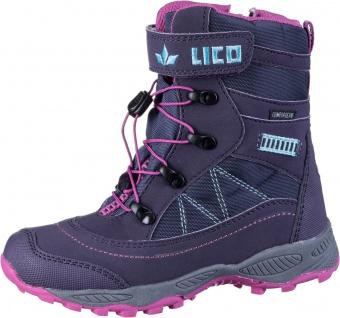 LICO Sundsvall VS Mädchen Winter Nylon Stiefel lila, Comfortex Ausstattung, m...