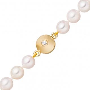 Magnet-Schließe 925 Silber gold vergoldet 2 Zirkonia Verschluss für Perlenketten
