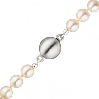 Magnet-Schließe 925 Sterling Silber matt mattiert Verschluss für Perlenketten