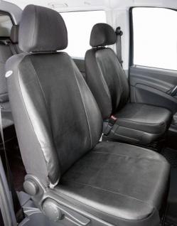 Passform Sitzbezüge Mercedes Vito W639, passgenauer Kunstleder Sitzbezug 2 Einzelsitze, ab Bj. 06/2003-05/2014