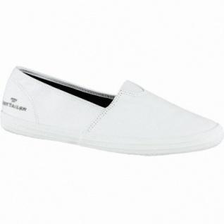 TOM TAILOR bequeme Damen Textil Slippers white, gepolsterte Tom-Tailor-Decksohle, 1240175/40