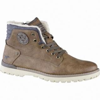 Mustang coole Herren Leder Imitat Winter Boots kastanie, 12 cm Schaft, molliges Warmfutter, warme Decksohle, 2541122/47