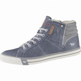Mustang coole Herren Leder Imitat Winter Boots dunkelblau, molliges Warmfutter, warme Decksohle, 2539106/44