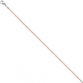 Rundankerkette Edelstahl rosa lackiert 50 cm Kette Halskette Karabiner