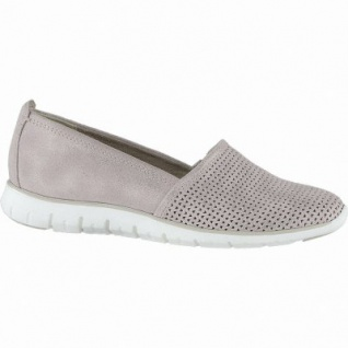 Marco Tozzi coole Damen Metallic Leder Slipper rose, gepolsterte Feel me Decksohle, 1240153/38