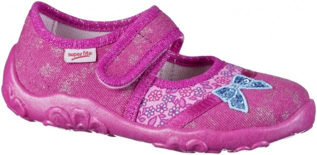 SUPERFIT Mädchen Sommer Hausschuhe pink, mittlere Weite, perforierte Laufsohle