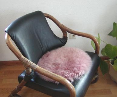 runde Sitzauflage aus australischen Lammfellen, Fellkissen mauve, Ø ca. 45 cm...