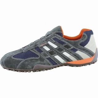 Geox modische Herren Leder Sneakers dark grey, Geox Laufsohle, Antishock