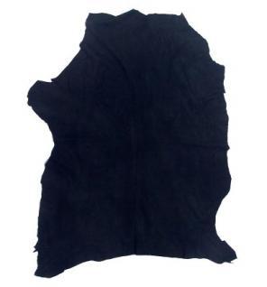 Lederhaut Ziege, Ziegenhaut, Ziegenleder, Velour, schwarzblau