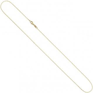 Ankerkette 585 Gelbgold diamantiert 0, 6 mm 42 cm Gold Kette Halskette Goldkette - Vorschau 3