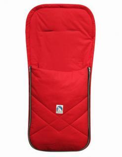 Baby Sommer Fußsack mit Baumwolle rot, waschbar, für Kinderwagen, Buggy, ca. 94x42 cm