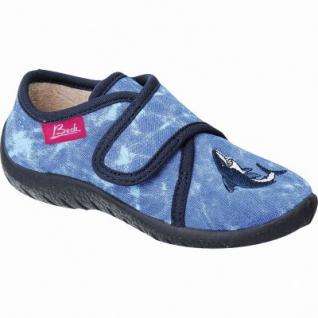 Beck Shark Jungen Textil Hausschuhe blau mit Klettverschluss, 3926101/33