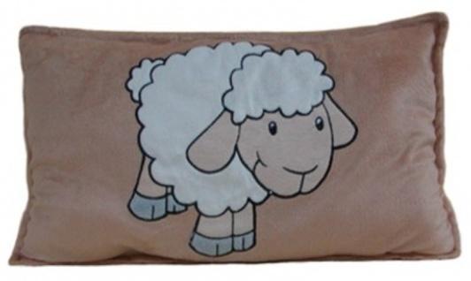 Kinder Kuschelkissen Schaf, Stoffkissen aus Mikrofaser, voll waschbar, ca. 40...