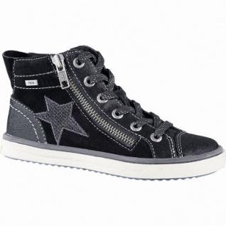Lurchi Sassi warme Mädchen Leder Tex Sneakers black, mittlere Wetie, angerautes Futter, Fußbett, 3741184/33