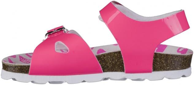 S.OLIVER Mädchen Lack Sandalen neon pink, biegsame Laufsohle - Vorschau 3