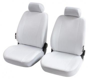 Universal Polyester Auto Sitzbezüge Nerja weiss 2 Vordersitzbezüge, 30 Grad waschbar, auch für Seiten Airbags