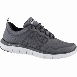 Skechers Flex Advantage 2.0 dali coole Herren Synthetik Sneakers grey, Air-Cooled-Memory-Foam-Fußbett, 4239146