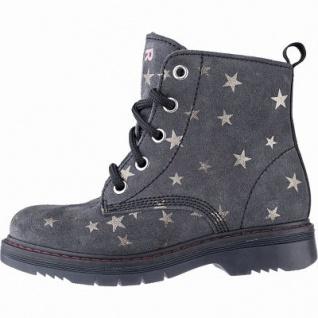 Richter coole Mädchen Velour Boots steel, mittlere Weite, Warmfutter, warmes Fußbett, 3741222/34