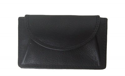 Bianci kleine Leder Börse schwarz, Minibörse, Fettleder, Kleingeldfach, EK-Chip, 1 Scheinfach, 1xCC, ca. 9, 5 x 6, 5 cm