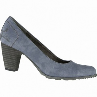 s.Oliver stilvolle Damen Leder Imitat Pumps denim, gepolstertes Soft-Foam-Fußbett, 1040105