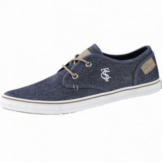 TOM TAILOR sportliche Herren Textil Sneakers navy, TOM TAILOR Decksohle, Sneaker Laufsohle, 2140136/43