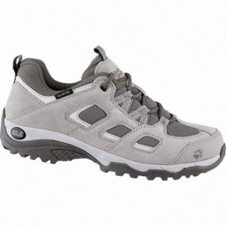 Jack Wolfskin Vojo Hike 2 Texapore Low Women Damen Leder Outdoor Schuhe moon rock, griffige Trekking-Sohle, 4442154/4.5