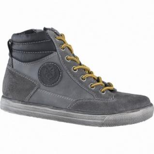 Indigo Jungen Leder Winter Boots grey, Warmfutter, warmes Fußbett, 3739167