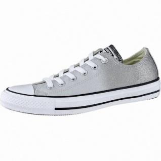 Converse Chuck Taylor All Star - OX Damen Canvas Metallic Sneakers ash grey, Converse Laufsohle, 1240112/36.5