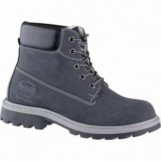 Dockers modische Mädchen Leder Winter Boots navy, molliges Warmfutter, warme Decksohle, Profilsohle, 3741245/35
